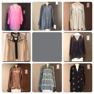 Clearance!!  8 blouses in bundle!!